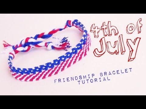 f5fab0923e9b0 4th of July Friendship Bracelet ♥ How to Make Friendship Bracelets