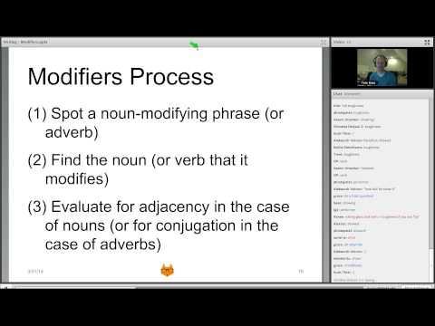 SAT Writing Modifiers