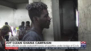 AMA officials invade makeshift homes of squatters under bridge at Circle -Joy News Prime 11-8-21