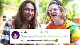 DO I SMOKE WITH LANDON?! (Q&A W/ LANDON CUBE)
