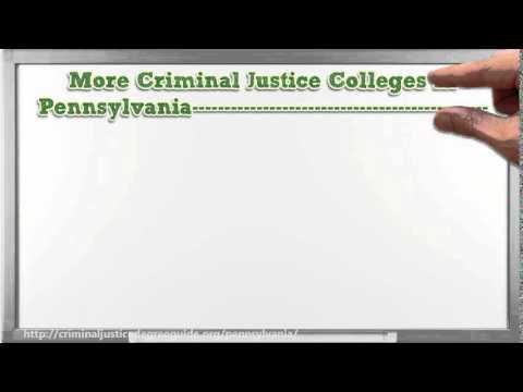 Criminal Justice Degree in Pennsylvania