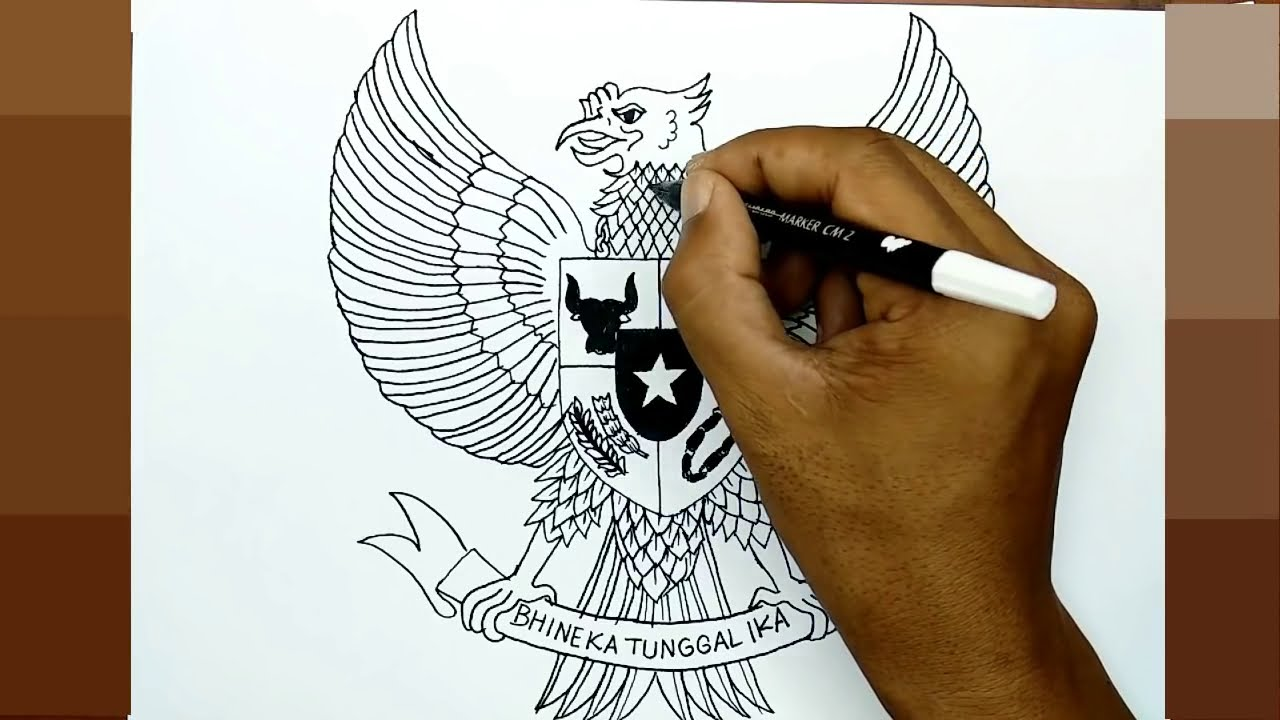 Cara Menggambar Burung Garuda Dengan Mudah