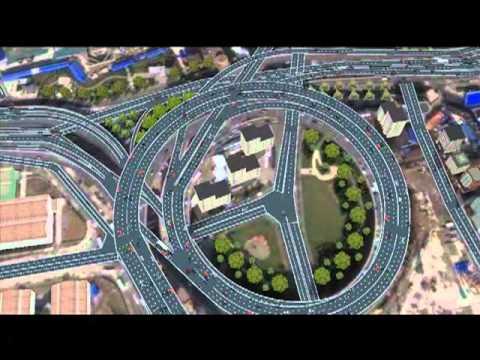 Nanpu Bridge Shanghai - Quadstone Paramics Animation