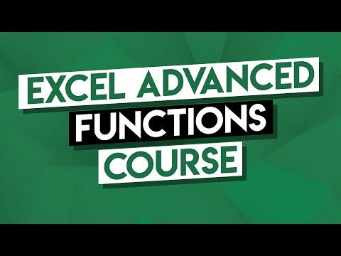 Advanced Excel Tutorial: Advanced Functions Course (VLOOKUP, IF, Forecasting, Statistical)