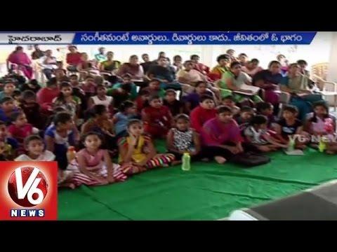 Free Music Classes for Poor Students | Music Director Swara Veena Paani | Hyderabad | V6 News