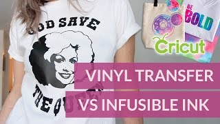 Cricut Infusible Ink Review - Infusible Ink VS Vinyl Transfer