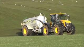 Slurry Spreading with JCB Fastrac 4220 & Major