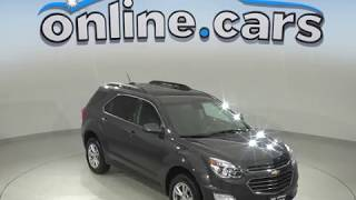 C99718TR Used 2017 Chevrolet Equinox LT FWD 4D Sport Utility Gray Test Drive, Review, For Sale