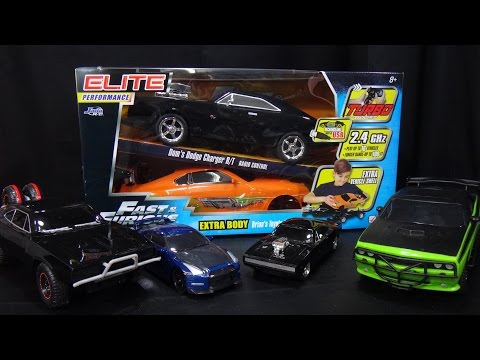 Fast and Furious Remote Control Car - Dodge Charger and Toyota Supra - Jada Toys RC