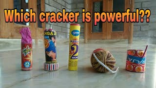 Testing the power of the crackers by keeping a cracker under bucket [ Part 1 ]