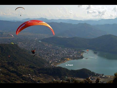 Paragliding in Pokhara 2015, Nepal