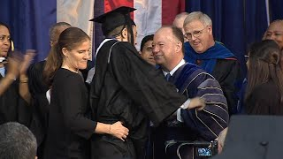 Georgetown Student With Spinal Injury Miraculously Walks to Receive Diploma