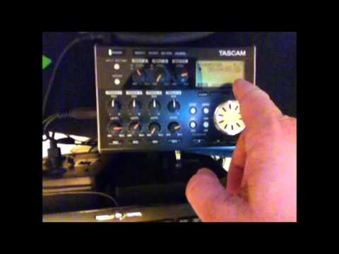 Recording a song using the Tascam DP-004 Demo.