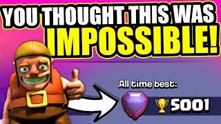 NEW WORLD RECORD!! - Clash Of Clans - WORLDS FIRST TOWN HALL 7 LEGEND LEAGUE PLAYER!