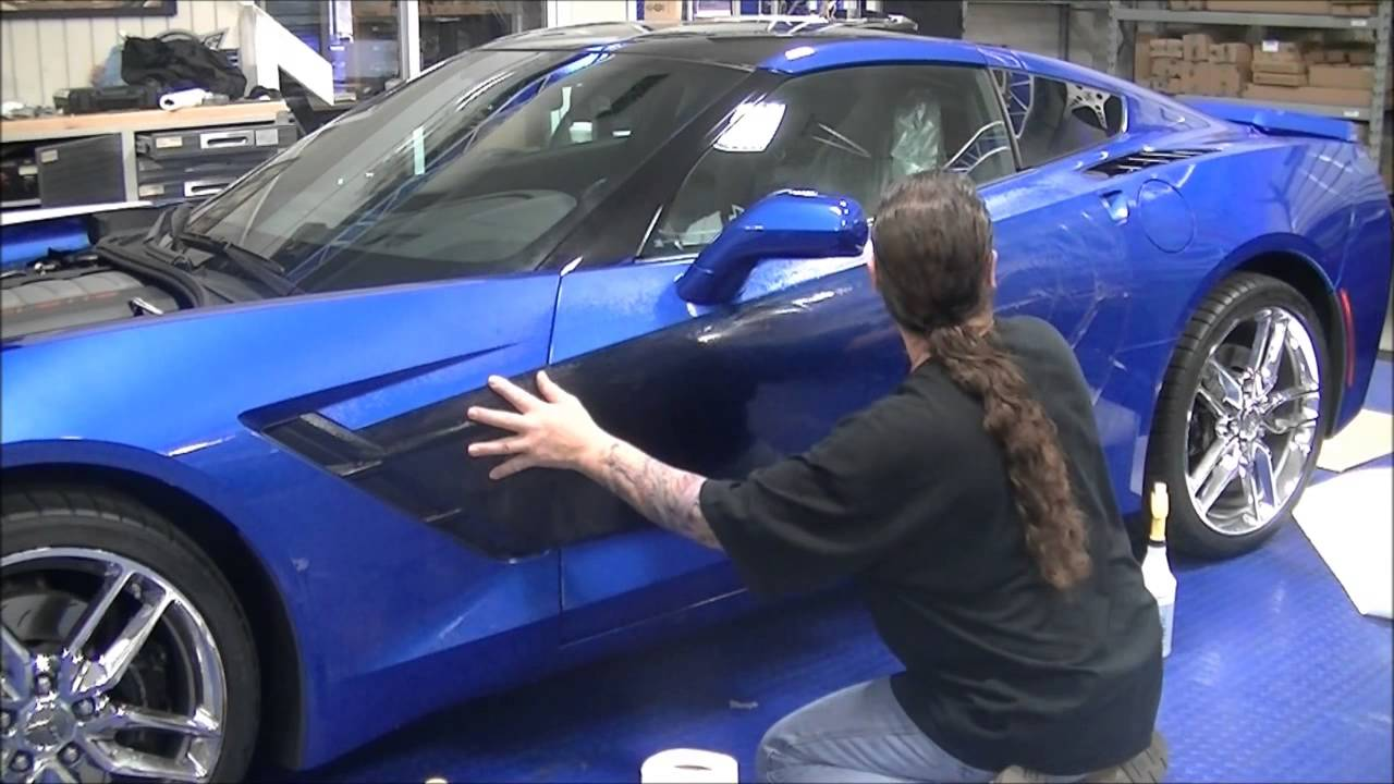How to install the C7 Corvette Sport Fade Side Graphic ...