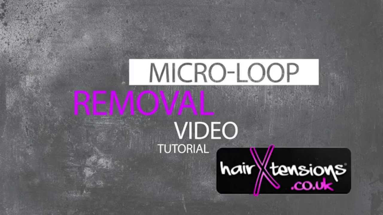 How To Remove Micro Loop Hair Extensions Tutorial