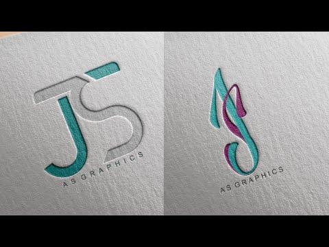 Logo Design Tutorial | SJ - JS Logo Design In CorelDraw x7 thumbnail