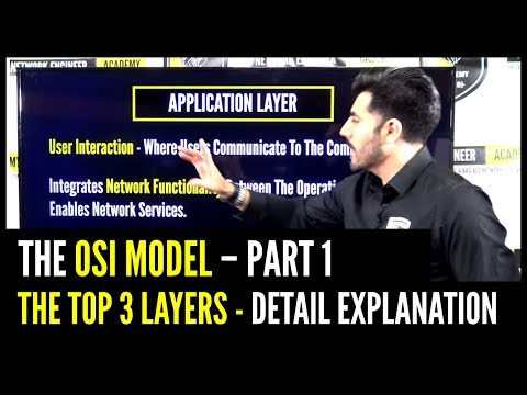 THE OSI MODEL - Top 3 Layers - Detail Explanation PART 1 | CCNA Network+