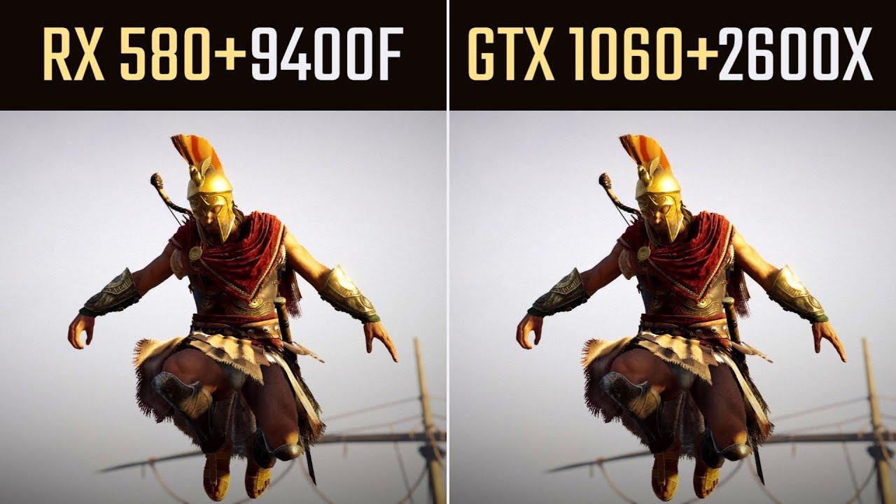 I5 9400F + RX 580 or Ryzen 2600X + GTX 1060 (9 Games)