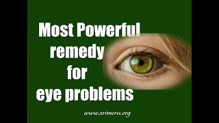 upanishad for the eyes most powerful remedy for eye problems