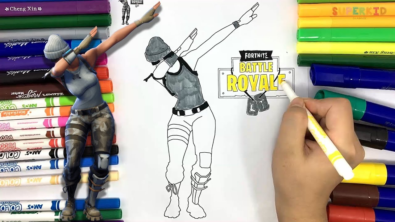 Fortnite Dab Coloring Page Fortnite Battle Royale Coloring Page