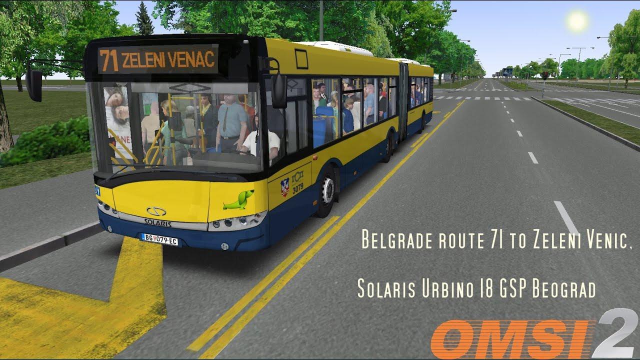 OMSI 2 SOLARIS URBINO 18 GSP BEOGRAD - YouTube
