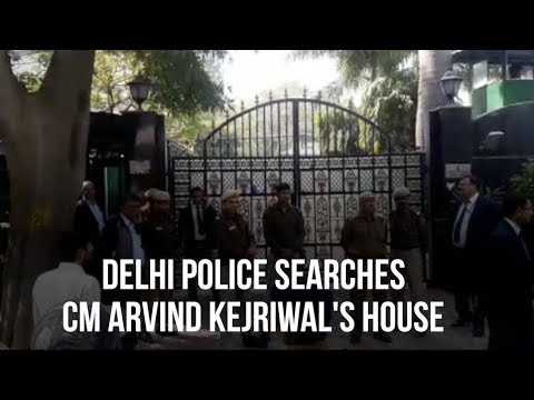 Delhi Police Searches CM Arvind Kejriwal's House
