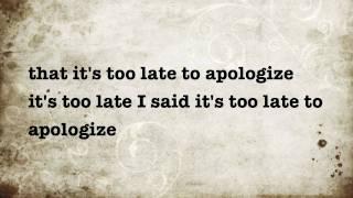 timbaland apologize lyrics