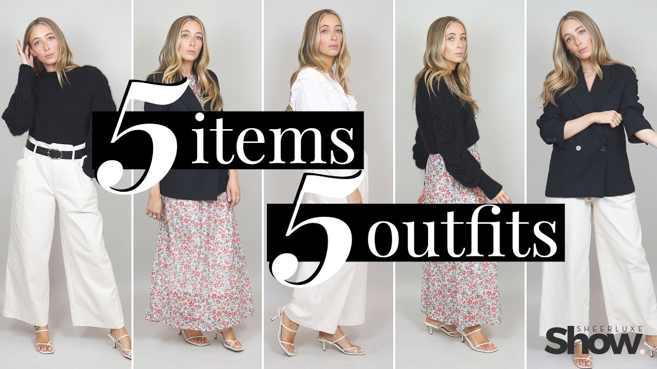 How To Style 5 Key Fashion Pieces - Capsule Wardrobe | 5 Items, 5 Outfits | SheerLuxe Show 5