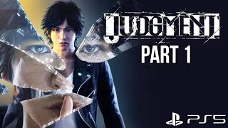 JUDGMENT PS5 Gameplay Walkthrough Part 1 - INTRO