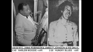 Henry Red Allen 1939-3 Anna Robinson + James P.Johnson - Hungry Blues -#1