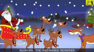 Rudolph The Red-Nosed Reindeer | Christmas Songs With Lyrics For Kids By ZippyToons
