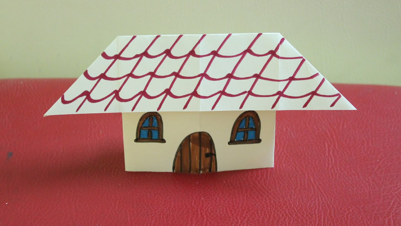 Comment faire une maison en papier youtube for Comment construire une maison