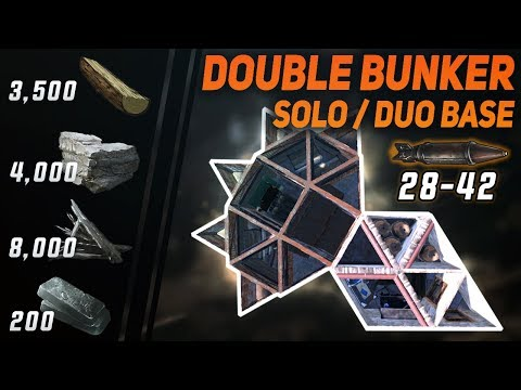 CHEAP DOUBLE BUNKER for Solo / Duo | Rust Base Design thumbnail