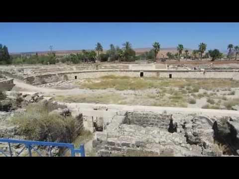 "The ""Colosseum"" amphitheatre (or amphitheater) of Beit She'an, Israel אמפיתיאטרון של בית שאן"
