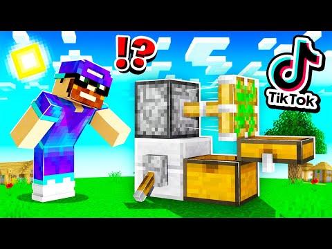 Minecraft MAIS je teste des HACKS TikTok cheatés !