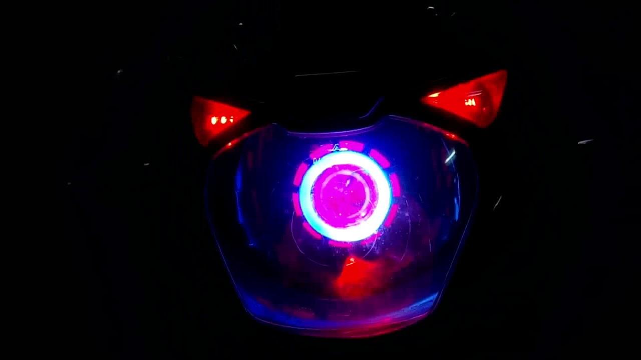 Bajaj Pulsar 150 Modified Pink Angel Eyes Faro Modificato Pulsar-3103