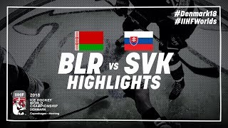 Game Highlights: Belarus vs Slovakia May 15 2018 | #IIHFWorlds 2018