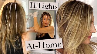 At-Home Hair Color! Grey Roots + No Foil Highlights!