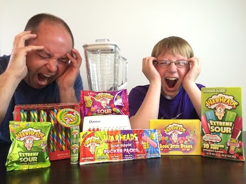 Warheads Smoothie Challenge (Sourest Drink) : Crude Brothers ... collab w/ WheresMyChallenge
