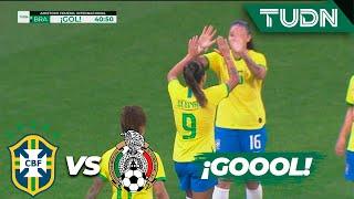 ¡Error de la defensa y gol de Brasil!  | Brasil 2 - 0 México | Amistoso Femenil Internacional  | TUD