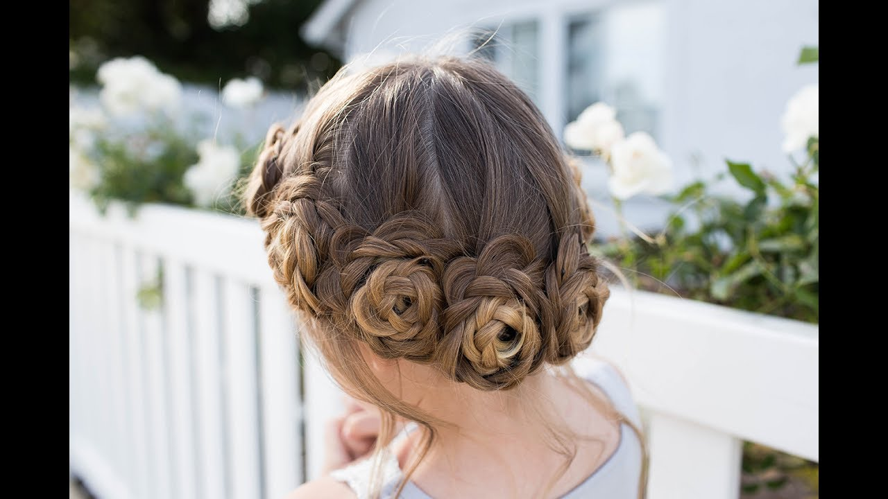 flower crown braid updo cute