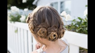 Flower Crown Braid | Updo | Cute Girls Hairstyles