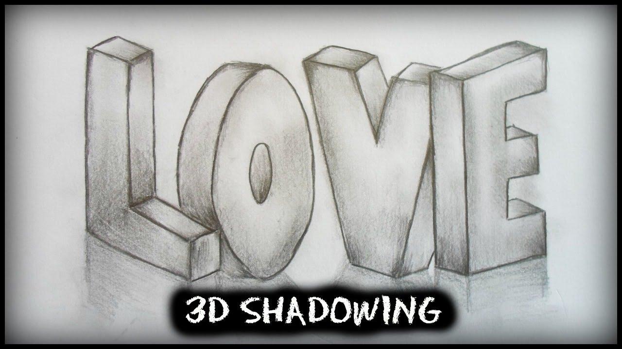 shadowing d letters love simplee diy shadowing 3d letters love simplee diy