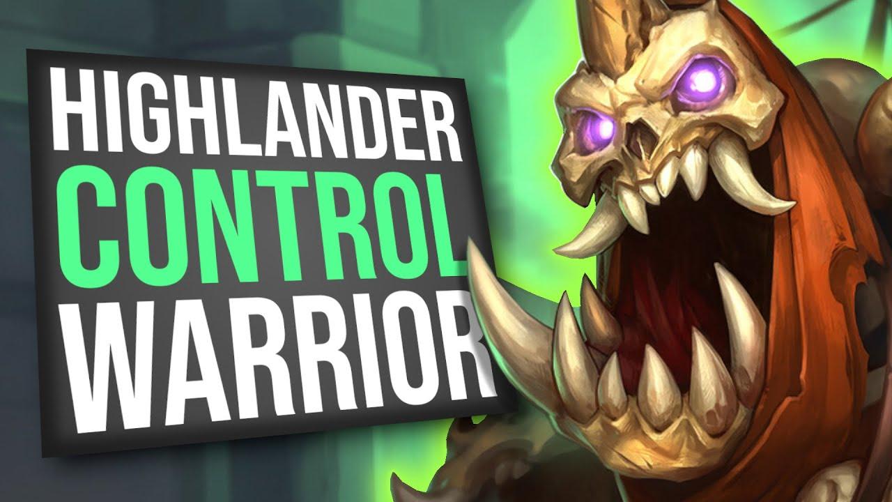 Highlander Control Warrior Defeats EVERY Deck! | Scholomance Academy | Hearthstone thumbnail