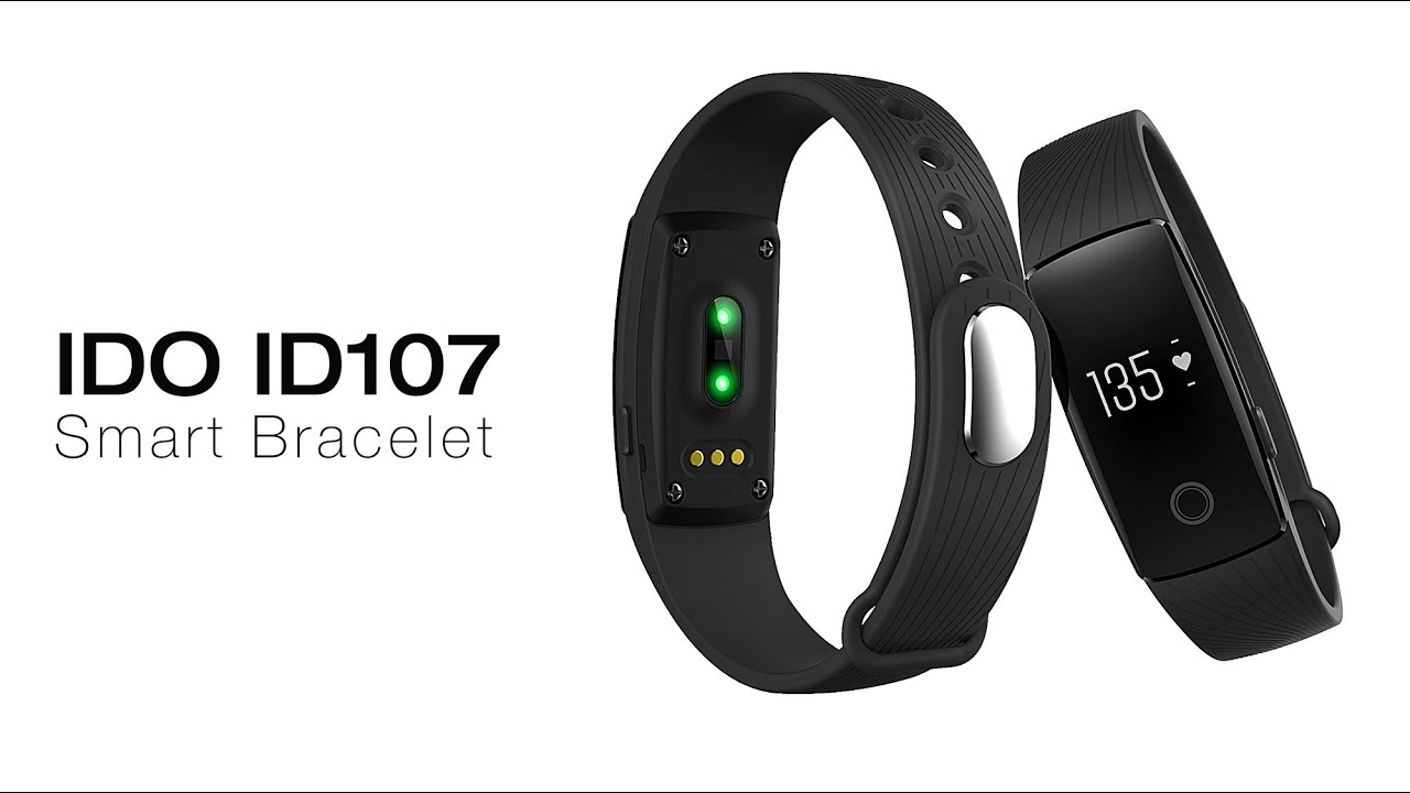 IDO ID107 Smart Bracelet Heart Rate Call Reminder Pedometer Remote Camera  Anti Lost , YouTube