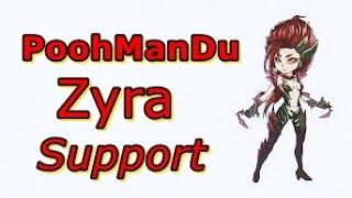 LOL Pro - PoohManDu Zyra Support - Korea SoloQ (Full game)