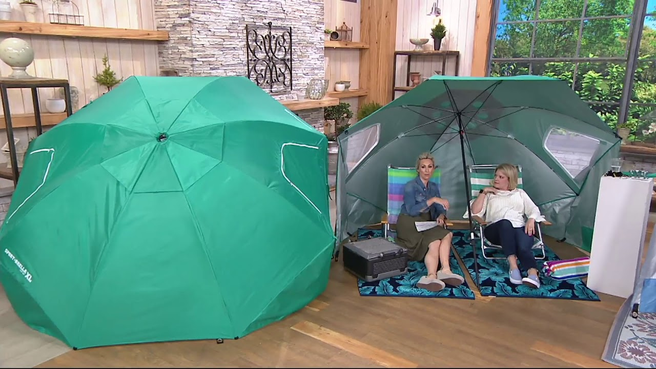 1982fde5b013 Sport-Brella XL Instant Outdoor Family Shelter Umbrella on QVC - YouTube