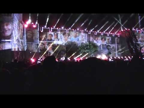 Reunification of Jerusalem 50th Anniversary - Event: Light Show (without sound)