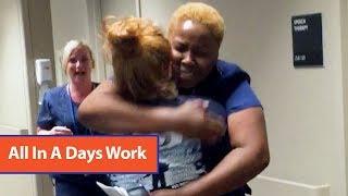 Nurse Technician Moved To Tears Seeing Paraplegic Walk